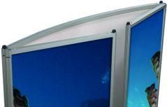 Coala counter gebogen detailfoto ingevouwen panelen